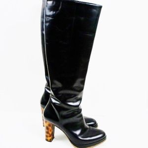 Donald & Lisa Signature Knee High Black Boots 8B